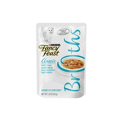 Fancy Feast Classic Broth Tuna & Vegetables, 3 oz.