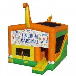 Spacewalk 4n1 Dino Combo, Moonwalk Bounce House Inflatable