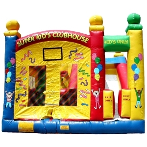 Spacewalk, Superkids Combo Moonwalk Bounce House Inflatable