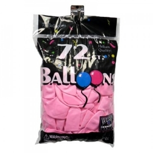 72 ct. Latex Balloons - Hot Pink