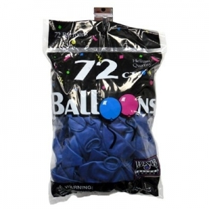 72 ct. Latex Balloons - Metallic Blue
