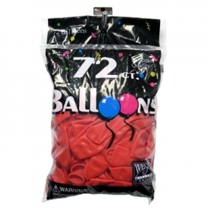 72 ct. Latex Balloons - Red