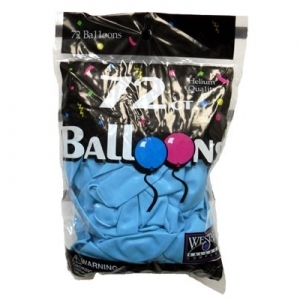 72ct. Latex Balloons - Sky Blue