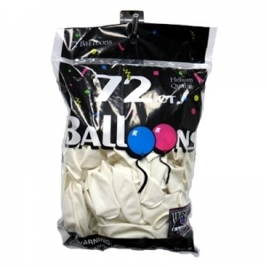 72 ct. Latex Balloons - White
