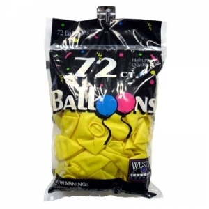 72 ct. Latex Balloons - Yellow