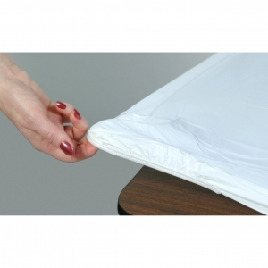 6' Disposable Table Cloth - White