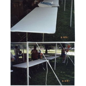 Kwik-Covers  30x72 White Tablecover