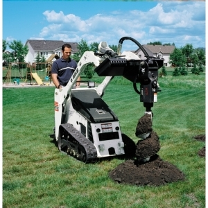 Auger Attachment, Bobcat Mini Loaders