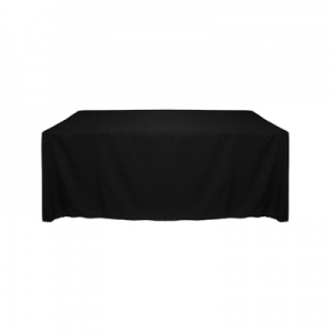 BLACK POLYESTER TABLECLOTH 60X120""
