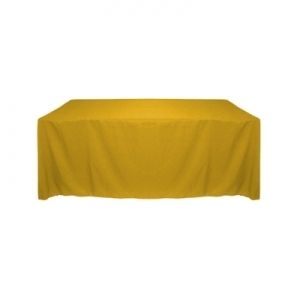 GOLD POLYESTER TABLECLOTH 60X120""