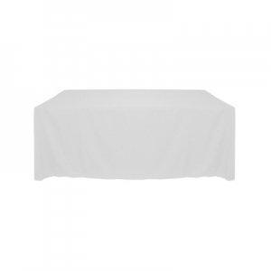 WHITE POLYESTER TABLECLOTH 60X120""