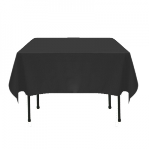 "Black Poly/Cotton Tablecloth 72""x72"""