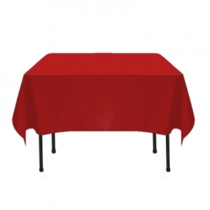 COLOR POLYESTER TABLECLOTH 90X90