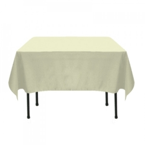 IVORY POLYESTER TABLECLOTH 72X72""