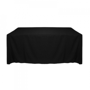 BLACK POLYESTER TABLECLOTH 90X156