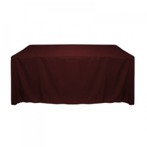 BURGUNDY POLYESTER TABLECLOTH90X156