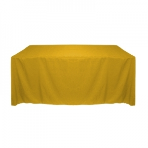 GOLD POLYESTER TABLECLOTH 90X132