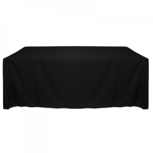 BLACK POLYESTER TABLECLOTH 90X132