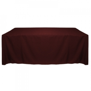 BURGUNDY POLYESTER TABLECLOTH 90X132