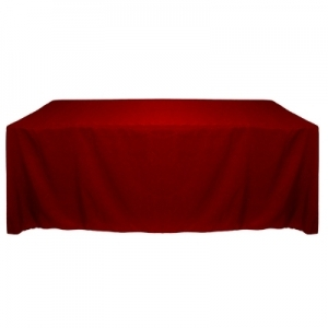 HOLIDAY RED POLYESTER TABLECLOTH 90X156