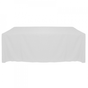 "Poly/Cotton Tablecloth 90""x132"" Rounded Corners"