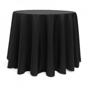 Tablecloth, Black Round 108