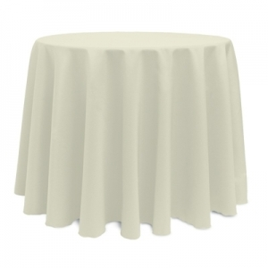 Tablecloth, Ivory Round 108
