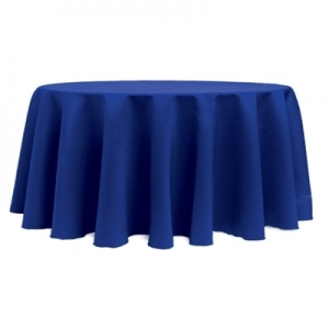 Tablecloth, Royal Blue Round 120