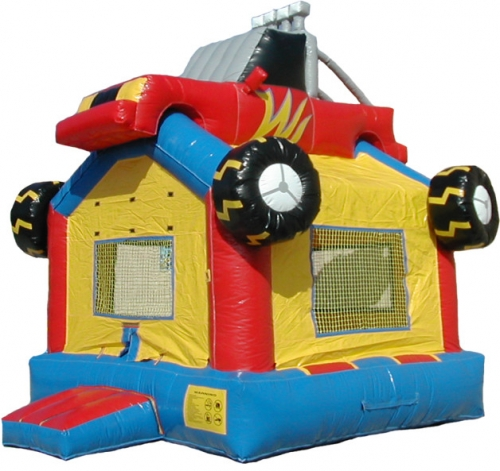 Spacewalk Monster Truck Moonwalk Bounce House