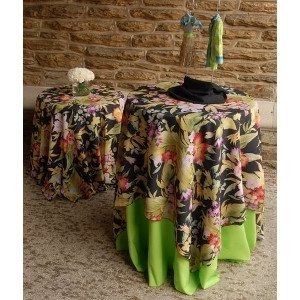 We Rent Linens, Tahiti Print Table Linen