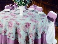 We Rent Linens, Flower Garden Collection Table Linen