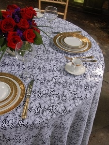 We Rent Linens, Lace/Garden Lace Table Linen