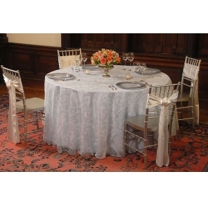 We Rent Linens, Winter Frost Table Linen