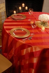 We Rent Linens, Eternity Stripe Table Linen