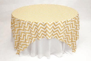 We Rent Linens, Chevron & Awning Stripe Table Linen