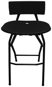 BAR CHAIR, BLACK FOLDING
