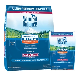 Natural Balance Original Ultra Whole Body Health Chicken Chicken Meal Duck Meal Small Breed Bites Dry Dog Formula
