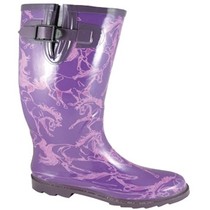 Smoky Mountain Boots Dancing Horses Rubber Boot Purple