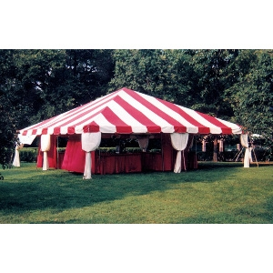 20 x 20 Fiesta Frame Tent - Red & White