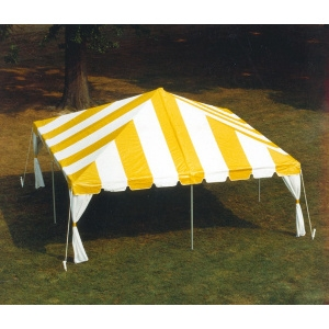 20 x 20 Fiesta Frame Tent - Yellow & White