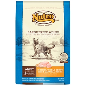 Nutro Large Breed Adult Dog Food Chicken Whole Brown Rice & Oatmeal Formula