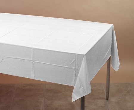 "White Table Cover - Better Than Linen - 50"" x 108"""