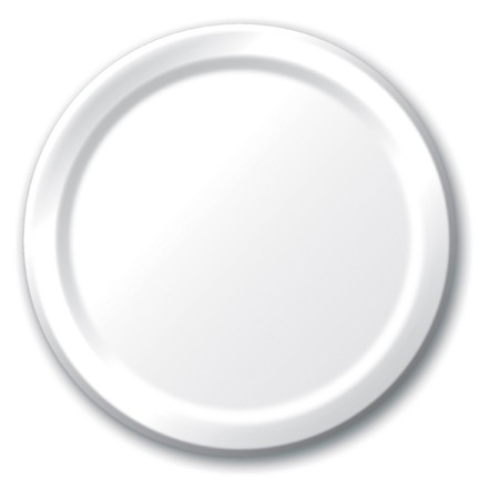"White Plastic Dinner Plate - 10"" - 20/pack"