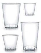 Clear Plastic Cocktail Glass - 9 oz. - 20/pack