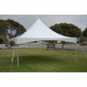 20' x 20' Pole Canopy w/ Ultra White (UW) Top