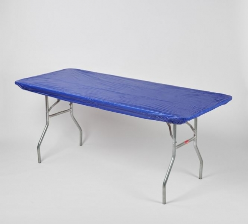 "Fitted Tablecover - Blue, 30"" x 96"""
