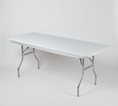 "Fitted Tablecover - White, 30"" x 96"""