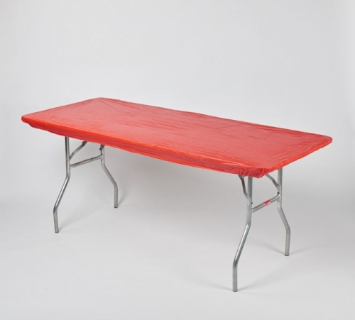 "Fitted Tablecover - Red, 30"" x 96"""