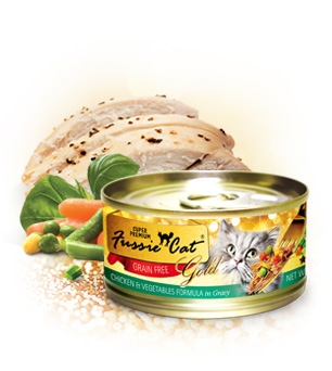 Fussie Cat Gold Chicken and Vegetables in Gravy Canned Cat Food