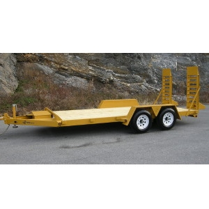 B Wise 16' 10k Channel Frame Equipment Trailer